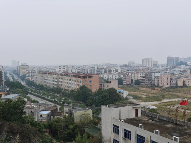city scene in in Yangjiang, China