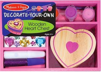 Bộ tô màu và thiết kế hộp trang sức trái tim ME3094 với màu vẽ và sticker