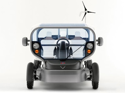 Электромобиль на солнечных батареях Venturi Eclectic Concept Car