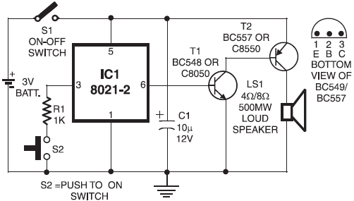 diagram ingram  ding dong door bell circuit design using 8021 2 ic