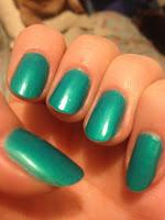 china glaze turned up turquoise nails polish varnish nail