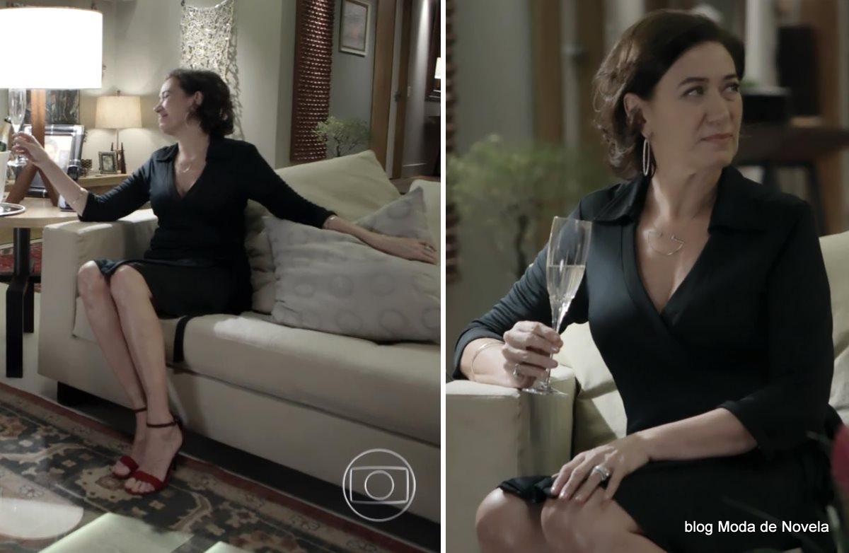moda da novela Império - look da Maria Marta dia 1º de agosto
