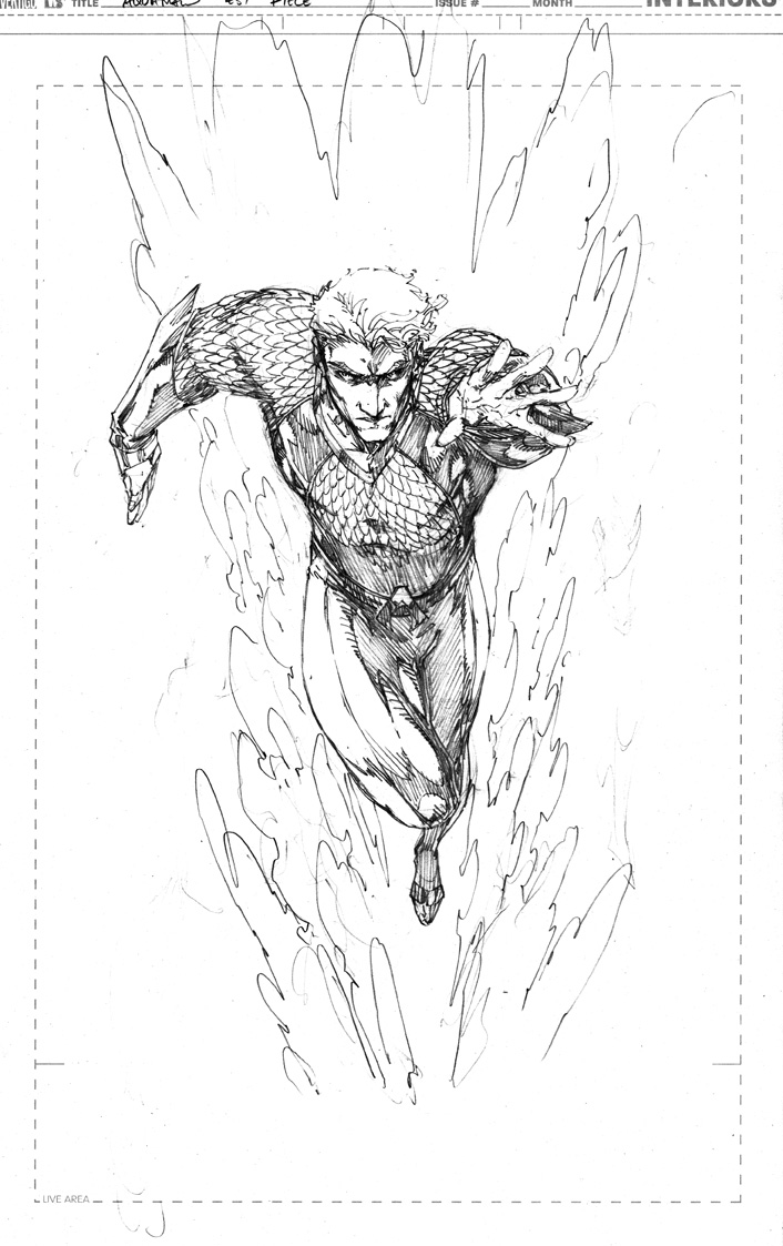 Demonpuppyu0026#39;s Wicked Awesome Art Blog Aquaman Sketch