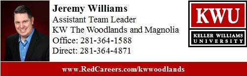 Jeremy Williams Assistant Team Leader Keller Williams Realty The Woodlands and Magnolia