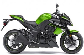 2011 Kawasaki Z1000 green right side