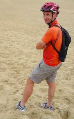 Chris in den Dünen der litauischen Sahara bei Nidden/Nida, Kurische Nehrung (Foto: Martin Bullinger)