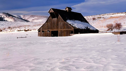Country Ranch in Winter, Near Baker, Union County, Oregon.jpg