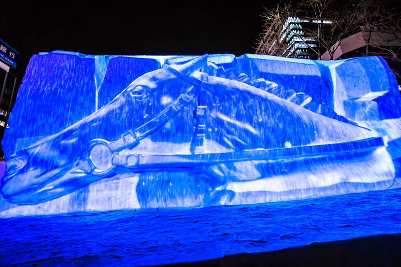 さっぽろ雪まつり サラブレッドの息吹 写真1