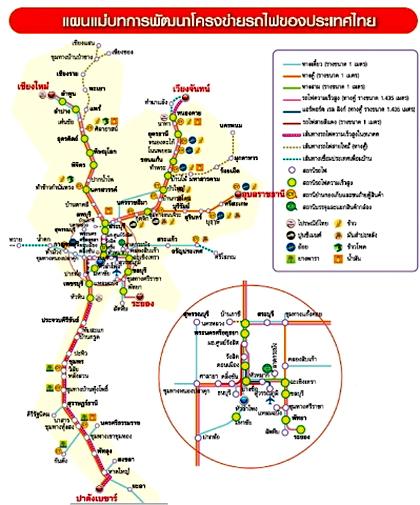 แผนที่แนวรถไฟความเร็วสูง