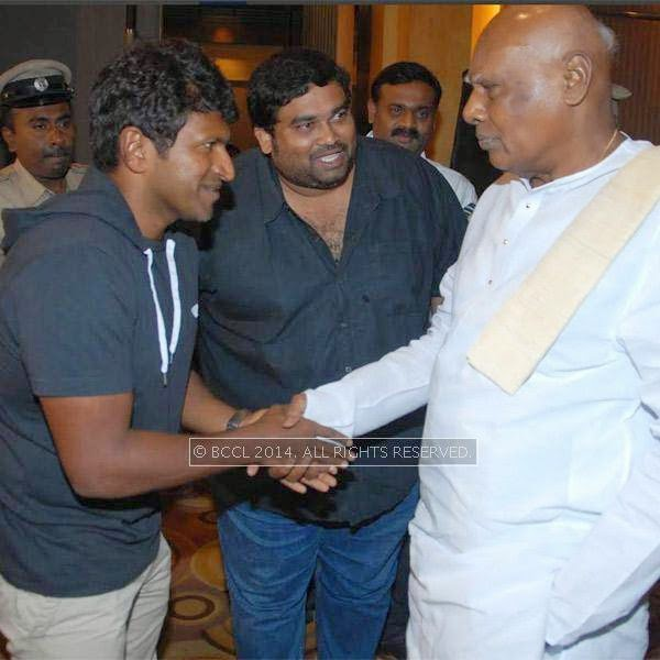 Puneeth Rajkumar and K Rosaiah at the Power *** press meet held in Bangalore.