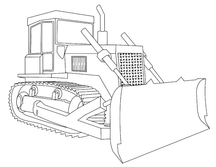 Backhoe And Bulldozer Coloring Pages Bulldozer Coloring Pages