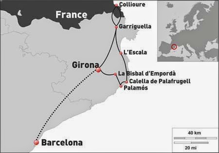 Costa Brava from North to South Itinerary