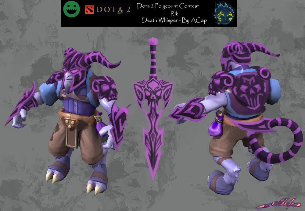 Dota 2 Riki Death Whisper Polycount
