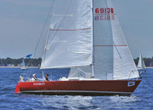 J/29 sailing double-handed on Bayview Mackinac race