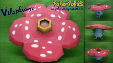 Pokemon Vileplume Papercraft