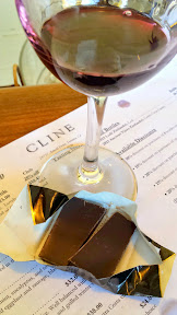 If you get a chance, pick out the Late Harvest Mouverde at Cline Cellars to sample, which is a dessert wine so comes with a little bit of chocolate!