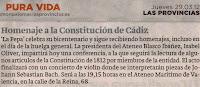 Conferencia y Concierto de violín 'Homenaje a la Constitución de Cádiz' a cargo de Isabel Oliver González. 29 marzo 2012