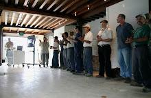 Un grupo de Consejales y Fiduciarios se reune en la Casa del Marques de La Hacienda La Esperanza.