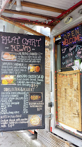 Phat Cart Menu. Phat Cart is a cute little food cart that has two locations, one by PSU at SW 4th and College, and also a location in Hillsdale at SW Capital Highway and Sunset Boulevard. This is the cart at the PSU pod.