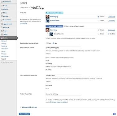 MailChimp Social