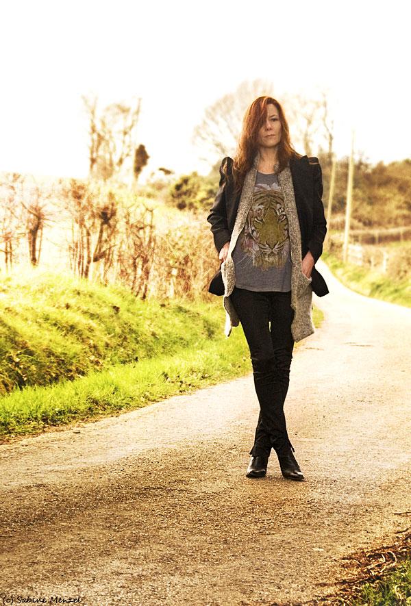 Psynopsis Alexander McQueen Blazer Greta Lorenzo Cardigan Spoiled Brat T-Shirt Costume National Satin Trousers Fendi Boots