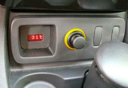 outside temperature indicator for car