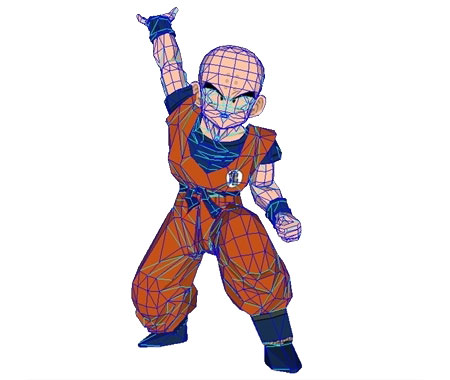 Dragon Ball Krilin Papercraft