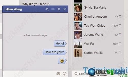 Hình 2: thêm biểu tượng chat facebook