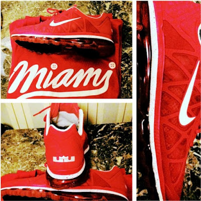 news air max 2011 lebron james red 1 LeBron James Latest Personalized Nike Air Max 2011 PE
