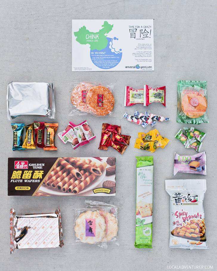 Chinese Snacks from Universal Yums (International Food Subscription Box).