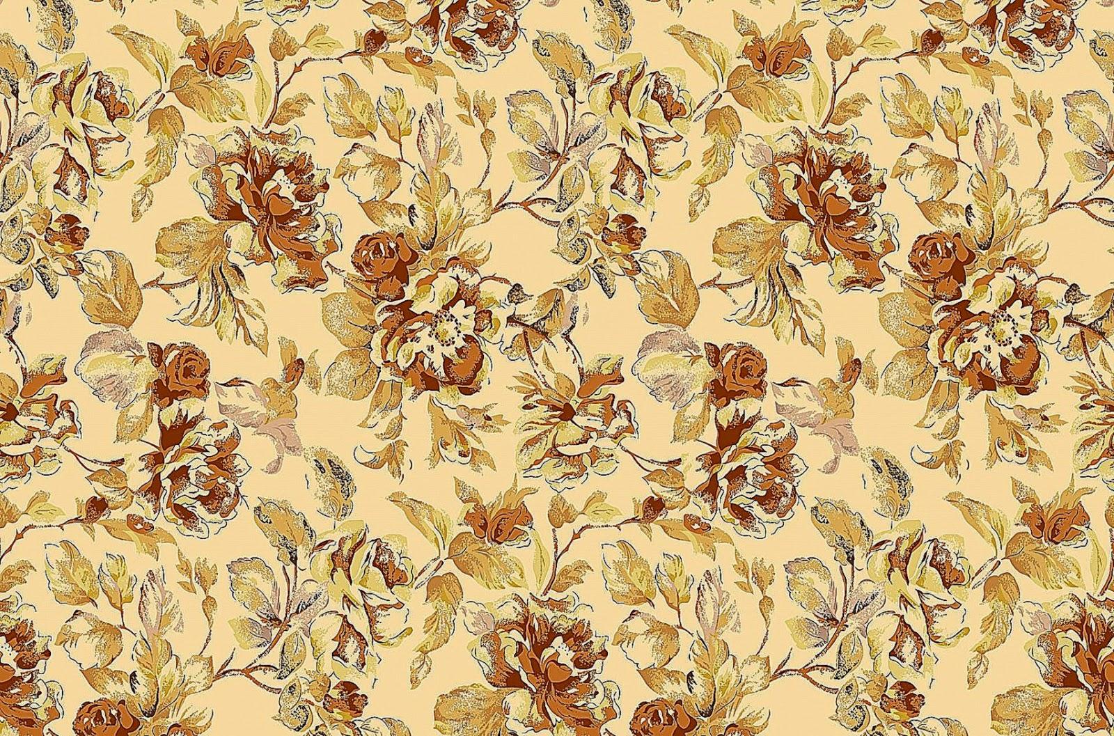 Vintage fl pattern wallpaper