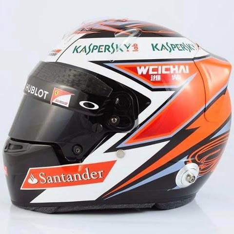 Kimi Raikkonen sfoggia un disegno più aggressivo, con il suo numero (il 7) ben visibile al centro