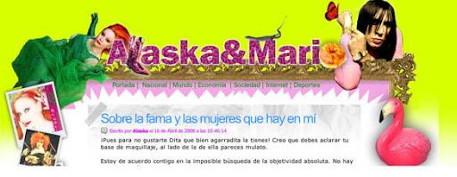 """el blog de Alaska y Mario Vaquerizo en """"Libertad Digital"""""""