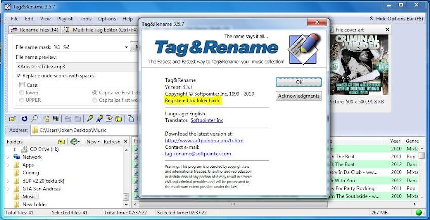 tag&rename 3.5