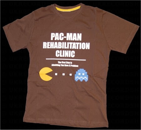 PAC Man+Rehabilitation+Clinic+T Shirt Top 20 PAC Man Gaming Shirts