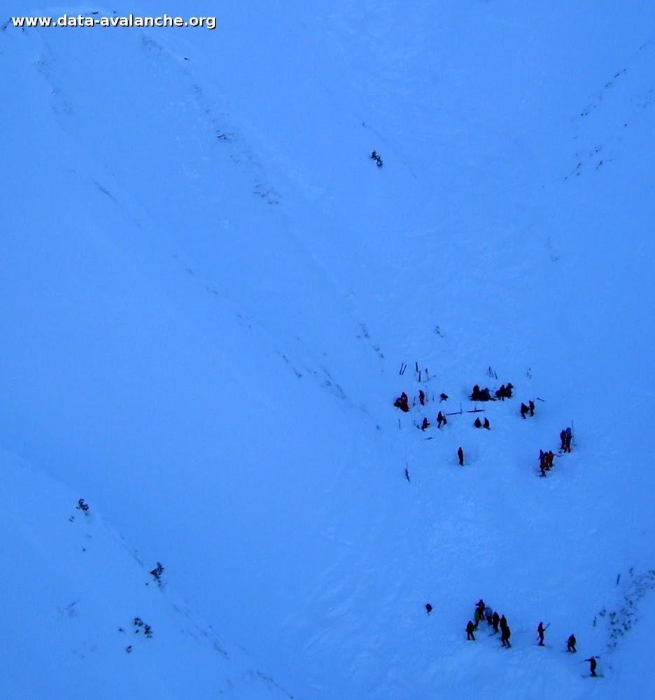Avalanche Maurienne, secteur Ouillon, Vallée perdue, sous la croix de coin de Cavour - Photo 1