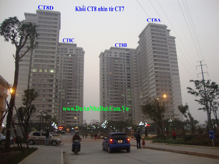 Chung cư Dương Nội CT8 nhìn từ CT7 sang