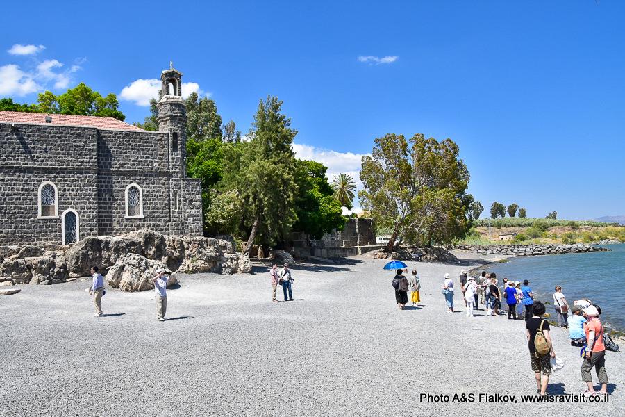 Церковь первенства Апостола Петра в Табхе на берегу моря Галилейского. Экскурсия Светланы Фиалковой.