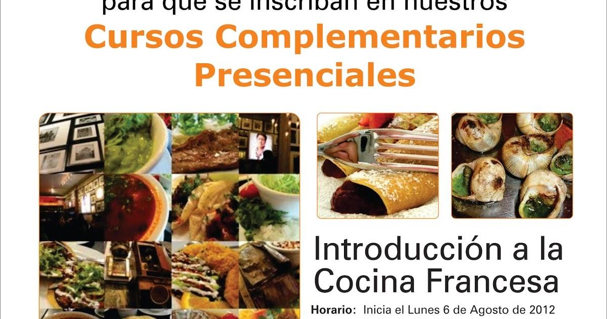 Centro de la tecnolog a del dise o y la productividad for Introduccion a la cocina francesa