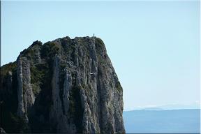 Vista de la pared sur de la Peña del León