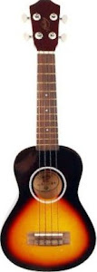 Hudson by Cranes two tone Soprano at Lardys Ukulele database