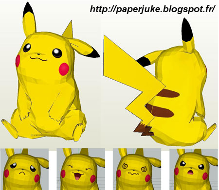 Pokemon Paper Model Pikachu