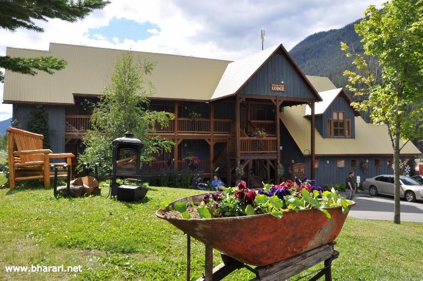 Our hotel in Field - Kicking Horse Lodge