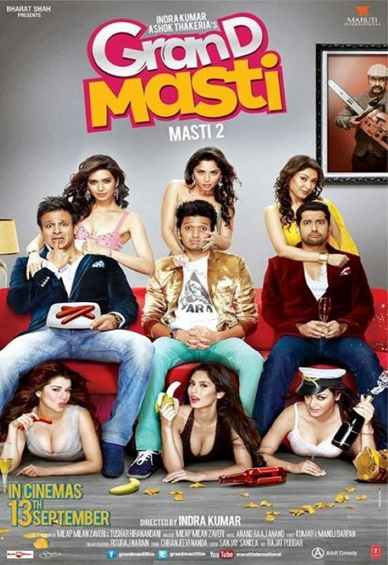 Poster Of Hindi Movie Grand Masti (2013) Free Download Full New Hindi Movie Watch Online At alldownloads4u.com