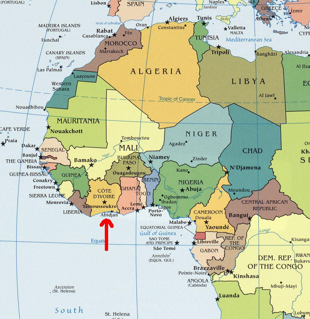 EagleSpeak Another Hot Spot Ivory Coast - Ivory coast map of africa
