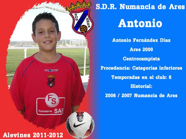 ADR Numancia de Ares. Alevíns 2011-2012. ANTONIO.