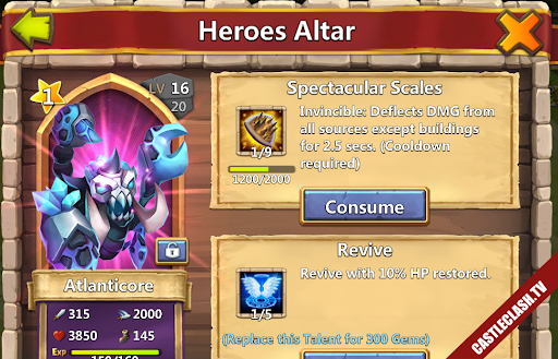 Account castle clash have Pumpkin Duke Succubus Atlanticore