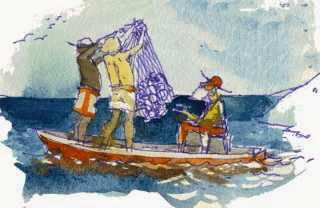 Los pescadores y el atun