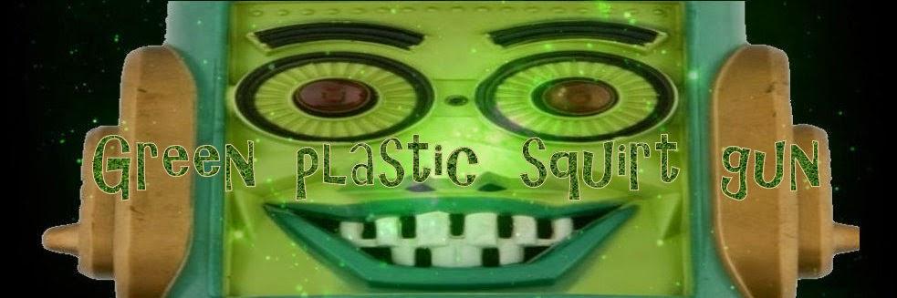 Green plastic squirt gun