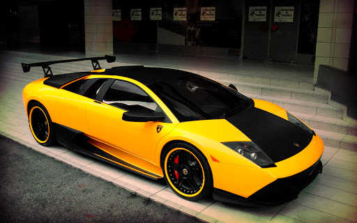 Yellow and Black Lamborghini